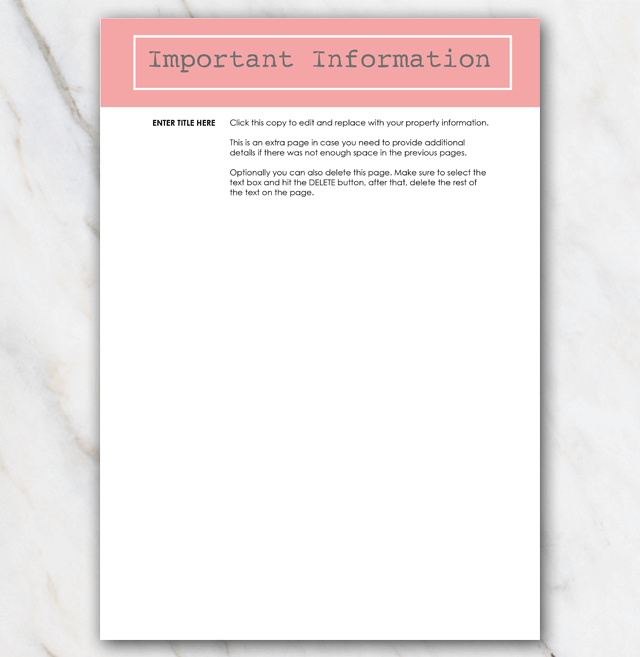 AirBnB House manual page 4 coral red
