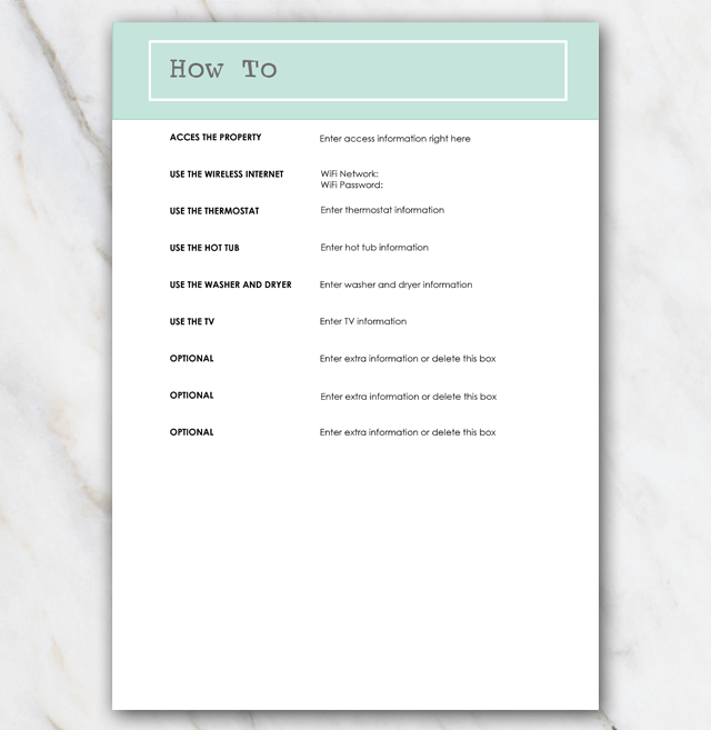 AirBnB House manual page 6