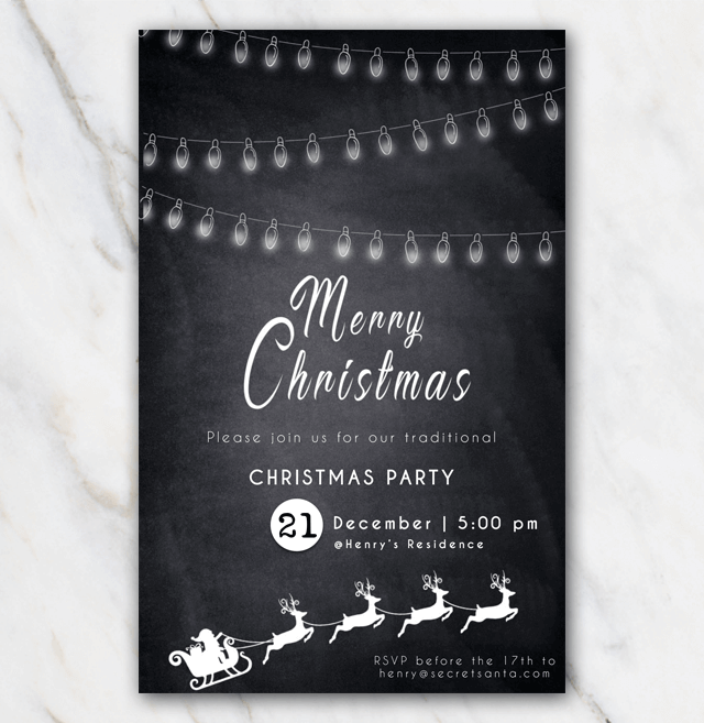 Christmas Invitations Free Template.Free Printable Christmas Party Invitation Classic