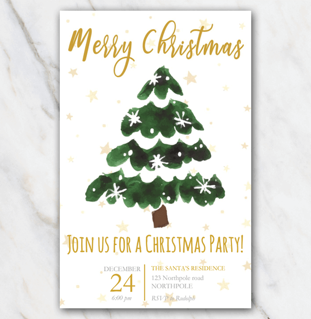 photo relating to Free Printable Christmas Invitation Templates titled Suggestion: consider this stunning Xmas Social gathering invitation template for