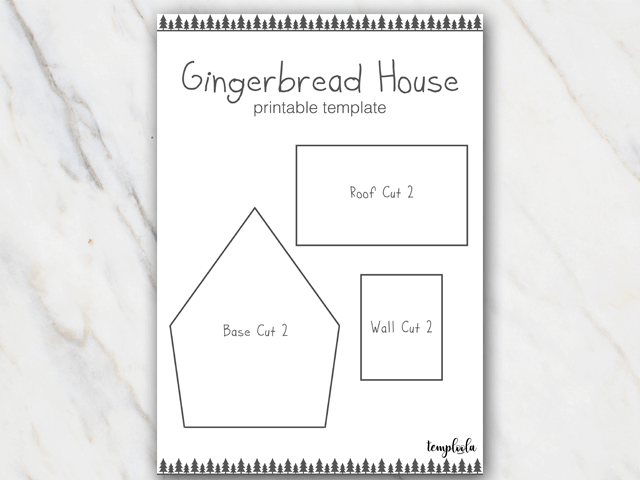 Gingerbread House Templates For Free Temploola