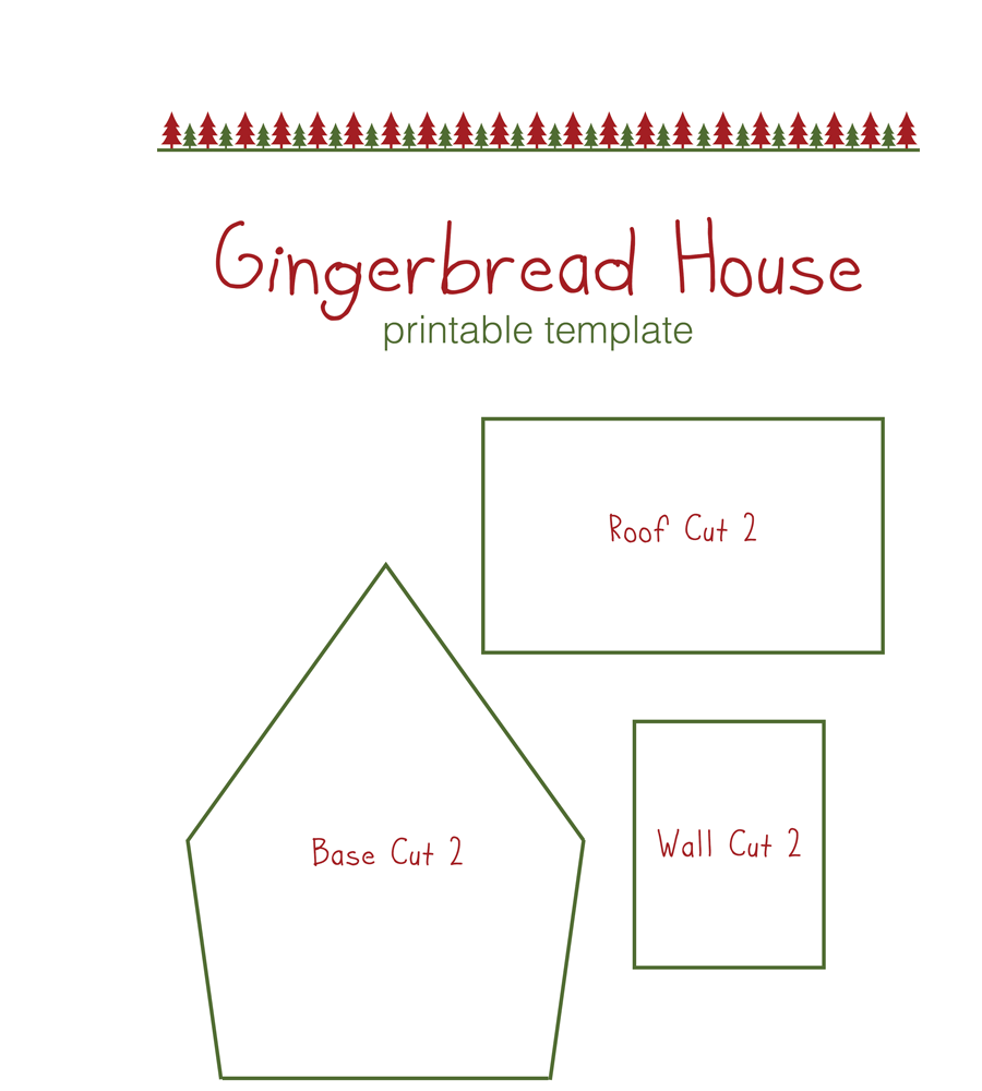 Gingerbread printable template example header