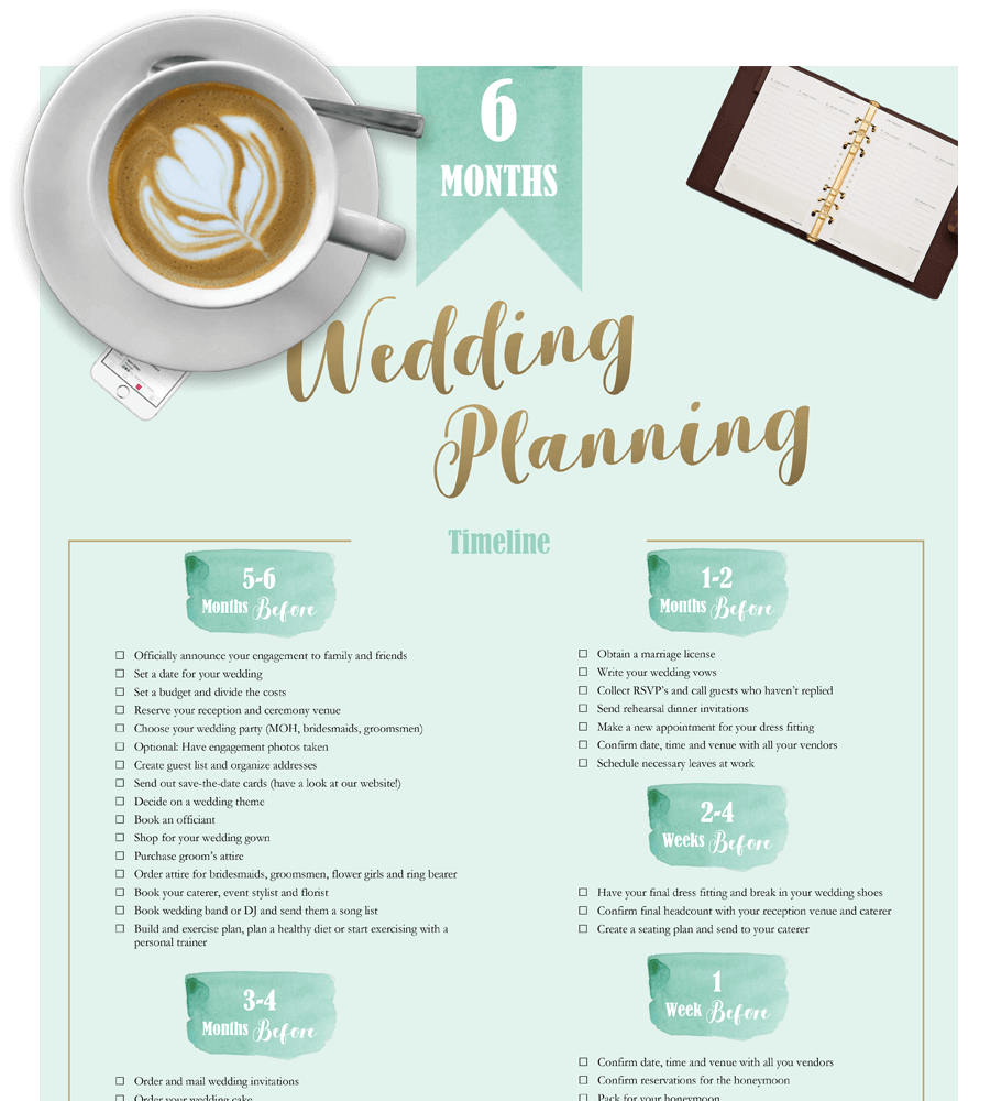 Wedding Planning Checklist Printable PDF And Excel FREE - Wedding planning timeline template