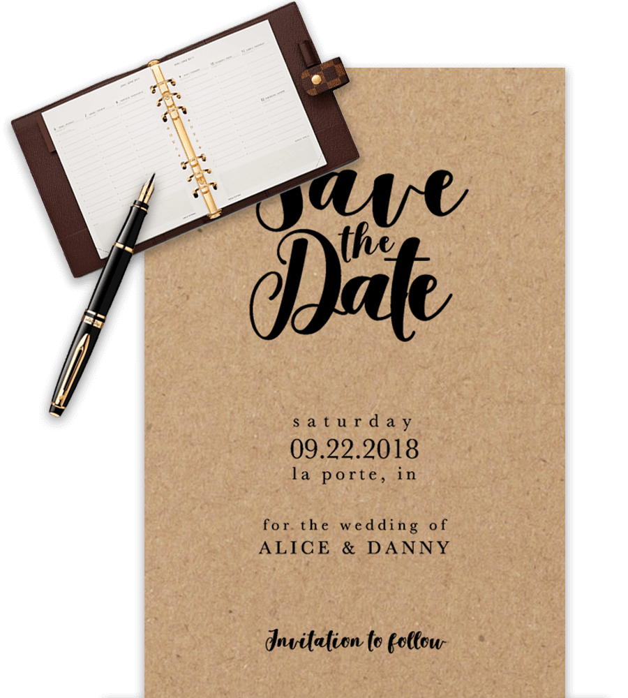 Save The Date Theme Ppt - Premium Invitation Template Design | Bliss Escape