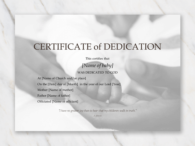picture relating to Printable Baby Dedication Certificate known as Boy or girl Commitment Certification Template for Term [Absolutely free Printable]