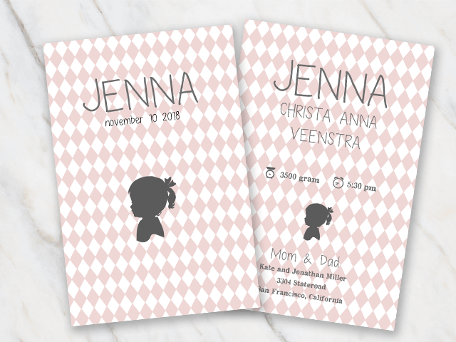 Free Word Templates for Birth Announcements – Baby Announcement Free Template