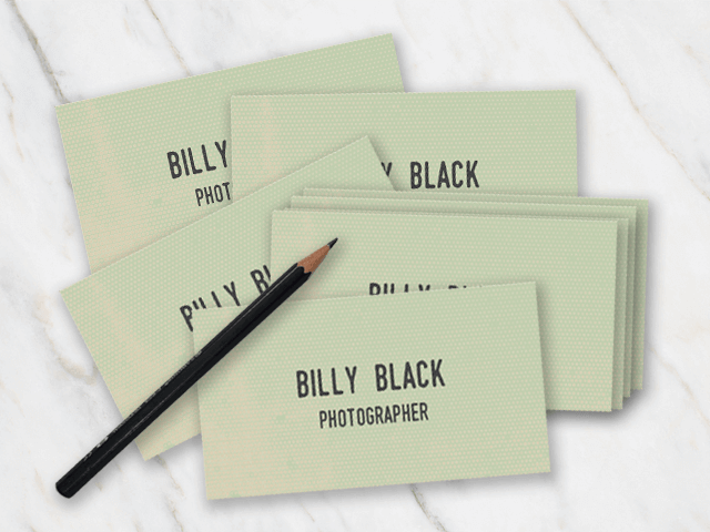 Business card templates in word for free vintage looking business card with typewriter font reheart Gallery