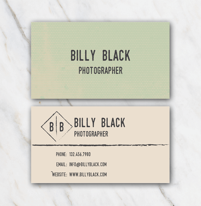 Billy Black business card template