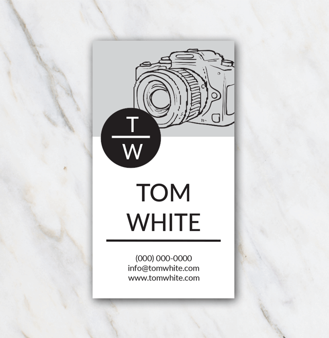 Tom White business card template