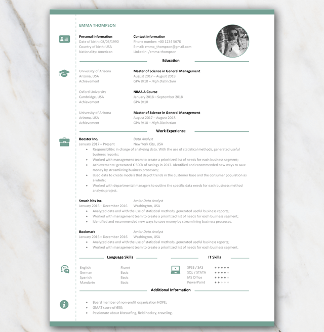 tip  cv    resum u00e9 template for college graduates