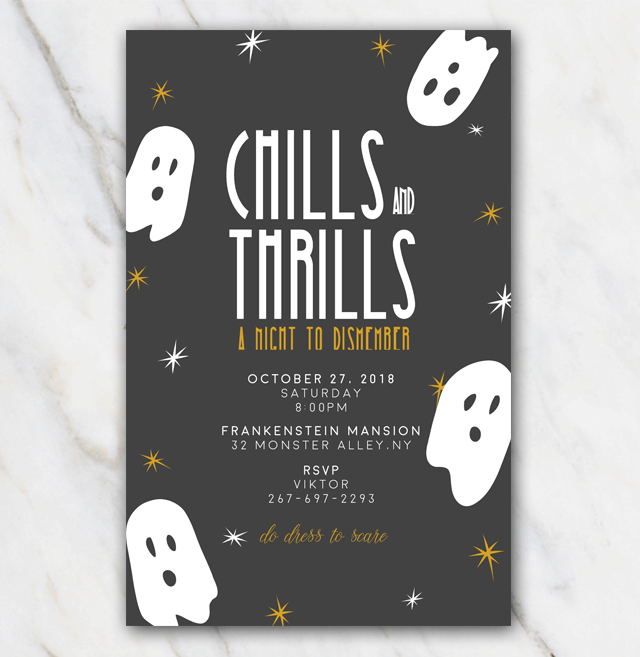 Halloween invitation template that gives you chills & thrills