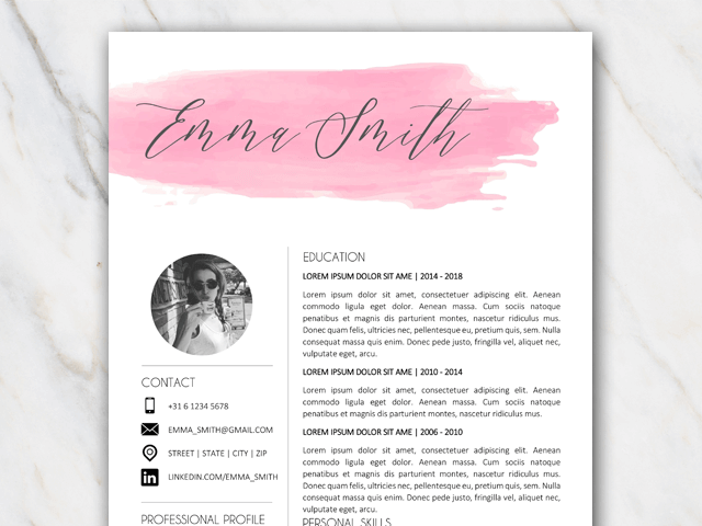 Example Of First Page Of Free Resume Template In Word With Watercolor Brushstroke. resume templates free download for microsoft word free resumes templates for microsoft word microsoft word free. resume second page reference letter template. black and white stallion resume template stallion black white. speckyboycomwp contentuploads201510free resu. resume template 12 stunning resume template
