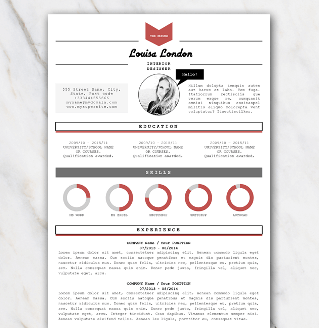resume template red