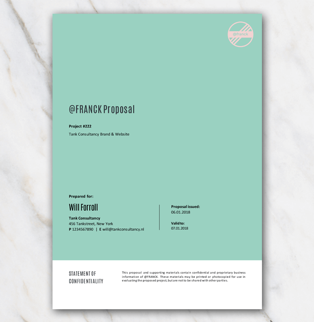 new business project proposal template in word for free