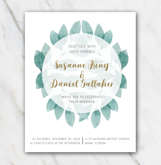 DIY Wedding Invitation Template In Word