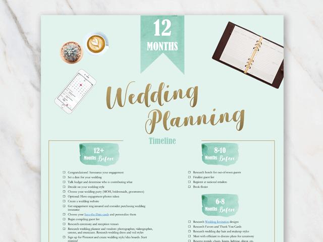 Printable wedding planning checklist 1 year in advance