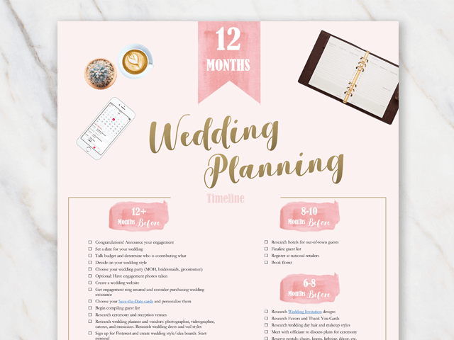 photo about Printable Wedding Planning named Wedding day Coming up with Listing: Printable PDF and Excel Absolutely free