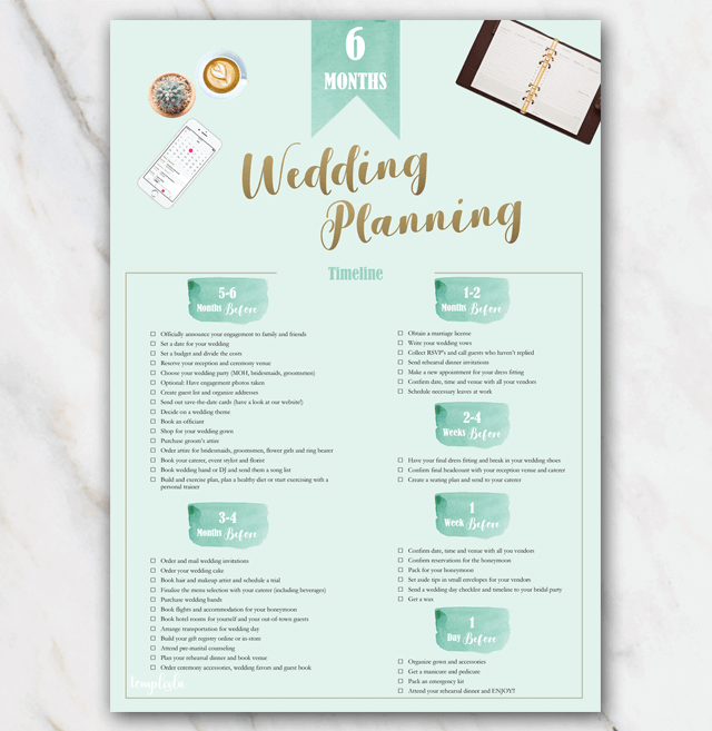 Wedding planning checklist green » Temploola.com