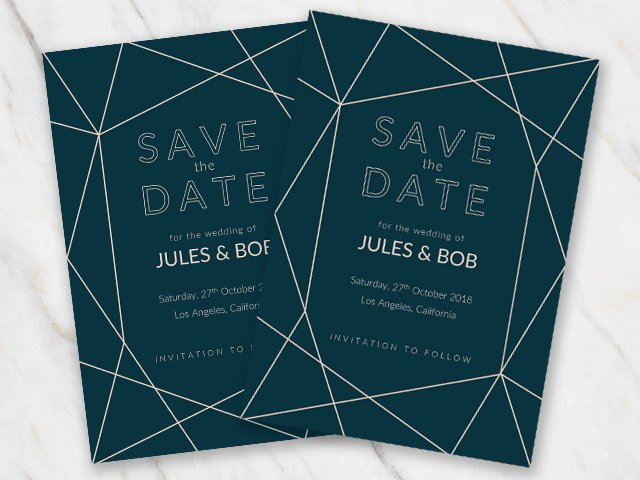 Wedding save the date templates in word for free geometric winter wedding save the date template pronofoot35fo Images